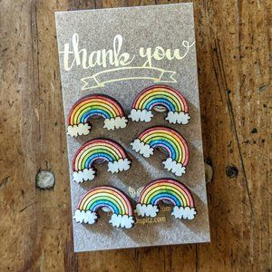 Hand Crafted Office - Rainbow Push Pins For Cork Boards Hand crafted NWT